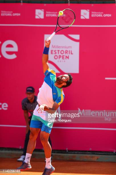 Salvatore Caruso from Italy in action during the match of Round 1 between Salvatore Caruso from Italy and Pablo Cuevas from Uruguay during Millennium...
