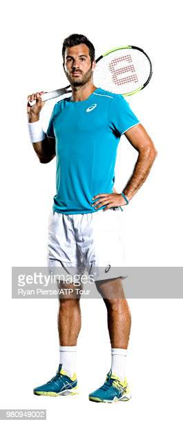 Salvatore Caruso of Italy poses for portraits during the Australian Open at Melbourne Park on January 11 2018 in Melbourne Australia