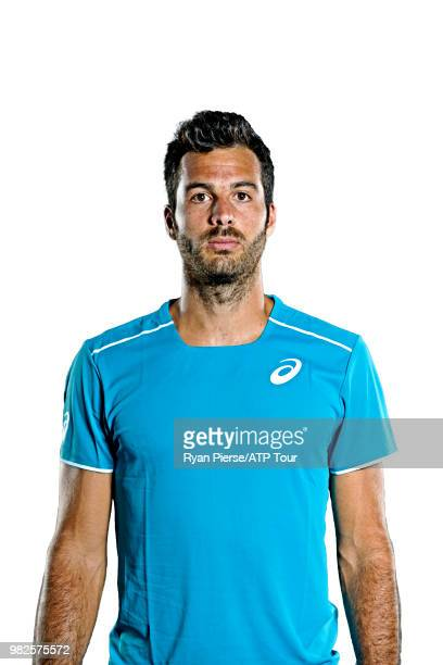 Salvatore Caruso of Italy poses for portraits during the Australian Open at Melbourne Park on January 12 2018 in Melbourne Australia