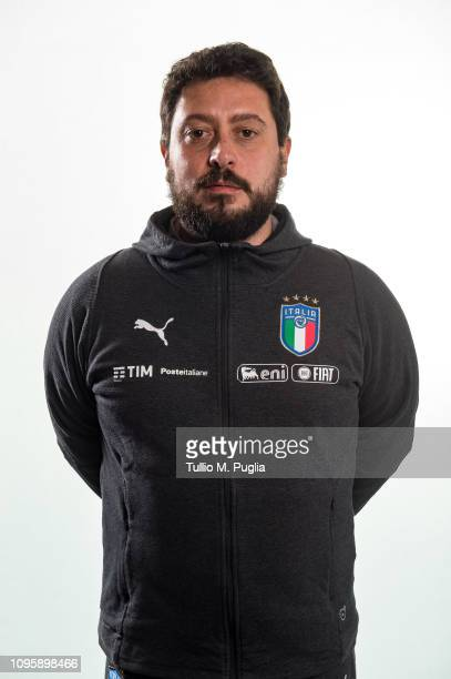 Salvatore Caruso poses during a Italy women portrait session at Centro Tecnico Federale di Coverciano on January 16 2019 in Florence Italy