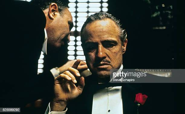 Salvatore Corsitto and Marlon Brando in The Godfather