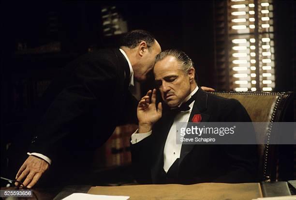 Salvatore Corsitto and Marlon Brando in the Godfather
