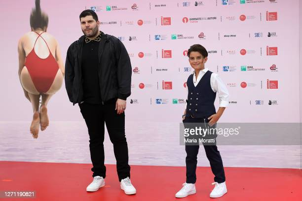 "Salvatore Esposito and Samuele Carrino attend ""Spaccapietre"" at the ""Giornate degli Autori"" during the 77th Venice Film Festival on September 07,..."