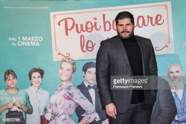 Salvatore Esposito attends a photocall for 'Puoi Baciare Lo Sposo' on February 28 2018 in Milan Italy