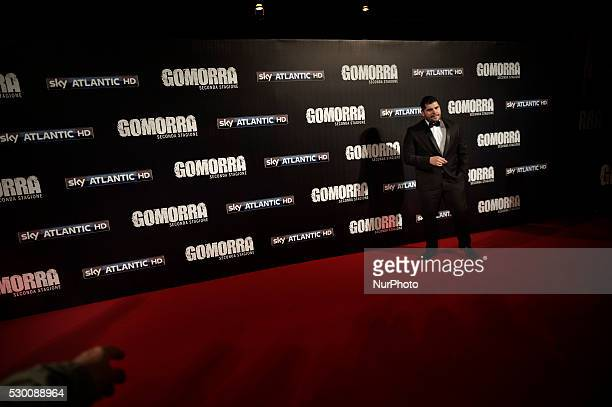 Salvatore Esposito attends the 'Gomorra 2 - La serie' on red carpets at The Teatro dell'Opera in Rome, Italy on May 10, 2016.