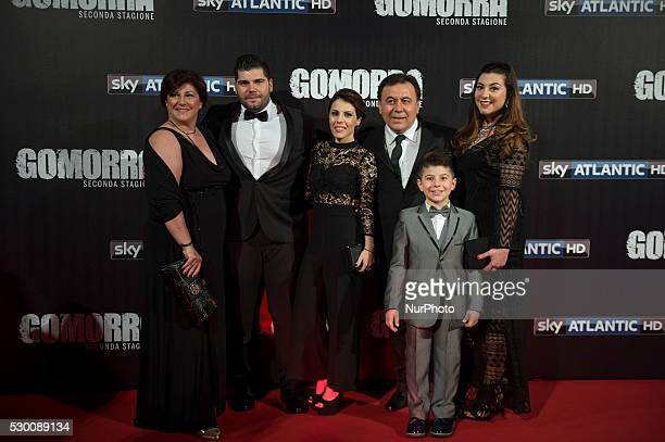 Salvatore Esposito family attends the 'Gomorra 2 - La serie' on red carpets at The Teatro dell'Opera in Rome, Italy on May 10, 2016.