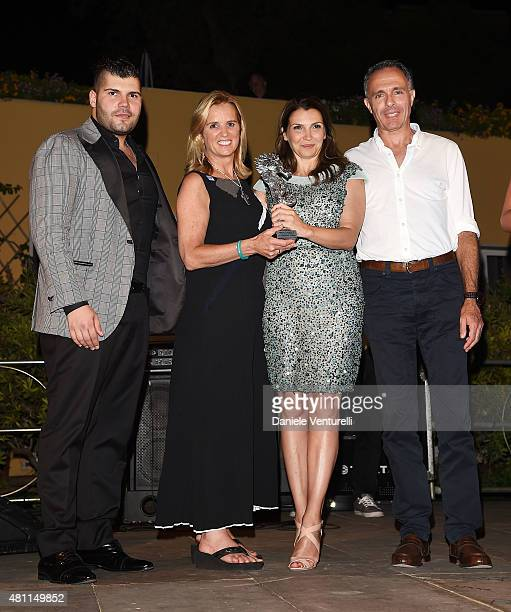 Salvatore Esposito Kerry Kennedy Maria Pia Calzone and Marco Chimenz attend 2015 Ischia Global Film Music Fest Day 5 on July 17 2015 in Ischia Italy