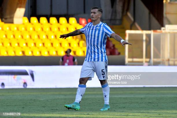 Salvatore Esposito Spal player, during the Italian Cup match between Benevento vs Spal final result 2-1, match played at the Ciro Vigorito stadium in...