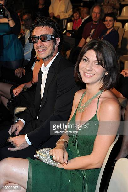 Salvatore Ficarra and his wife attend the Taormina Film Fest 2010 Opening Ceremony on June 12 2010 in Taormina Italy