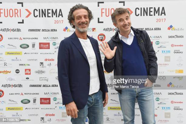 Salvatore Ficarra and Valentino Picone attend FuoriCinema on September 15 2017 in Milan Italy