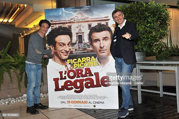 Salvatore Ficarra and Valentino Picone attend 'L'Ora Legale' Photocall on January 13 2017 in Rome Italy
