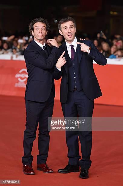 Salvatore Ficarra and Valentino Picone attend the 'Andiamo A Quel Paese' red carpet during the 9th Rome Film Festival at Auditorium Parco Della...