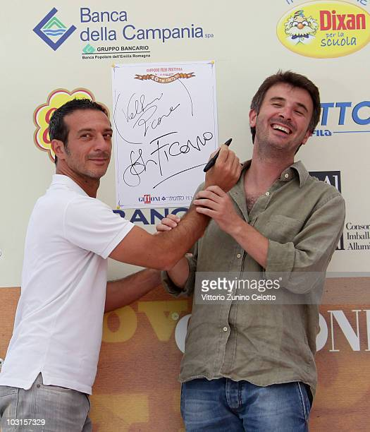 Salvatore Ficarra and Valentino Picone attends a photocall during Giffoni Experience 2010 on July 29 2010 in Giffoni Valle Piana Italy