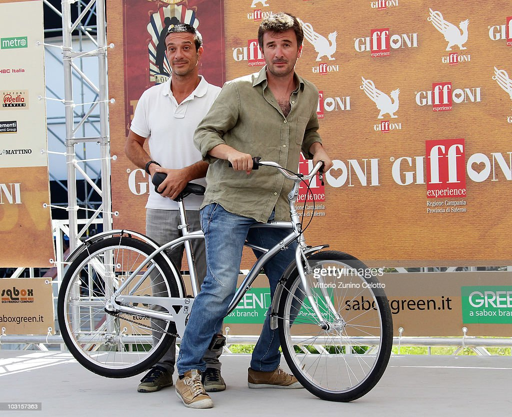 Salvatore Ficarra (L) and Valentino Picone (R) attends a photocall during Giffoni Experience 2010 on July 29, 2010 in Giffoni Valle Piana, Italy.