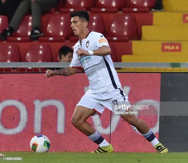 Salvatore Molina of Crotone FC in action during the Serie B match between Benevento Calcio and Crotone FC at Stadio Ciro Vigorito on November 23 2019...