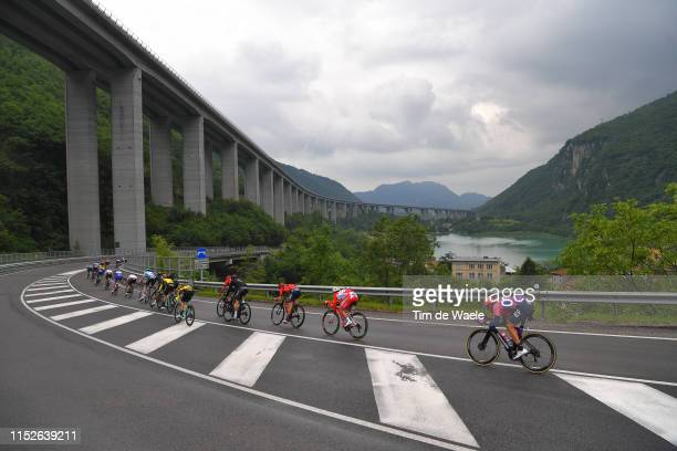 Salvatore Puccio of Italy and Team INEOS / Andrea Garosio of Italy and Team Bahrain Merida / Andrea Vendrame of Italy and Team Androni Giocattoli...
