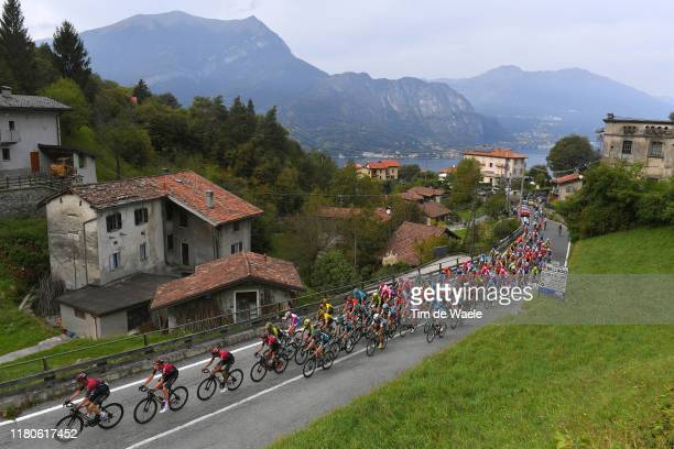 Salvatore Puccio of Italy and Team INEOS / Tao Geoghegan Hart of Great Britain and Team INEOS / Egan Bernal of Colombia and Team INEOS / Ivan Ramiro...