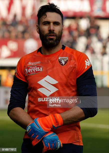 Salvatore Sirigu during the Serie A match between Torino FC and Udinese Calcio at Stadio Olimpico di Torino on February 11 2018 in Turin Italy