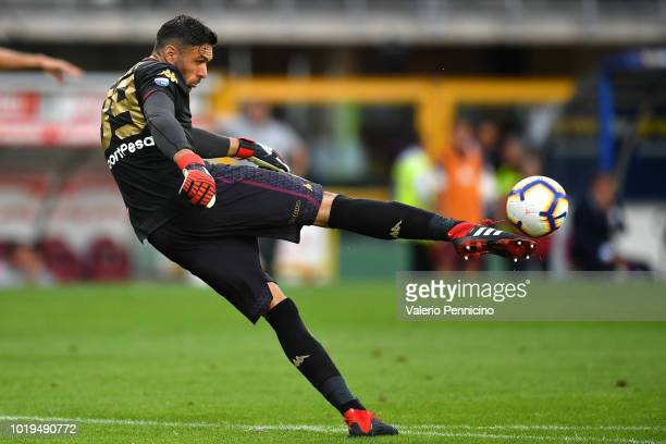 Salvatore Sirigu goalkeeper of Torino FC kicks the ball during the Serie A match between Torino FC and AS Roma at Stadio Olimpico di Torino on August...