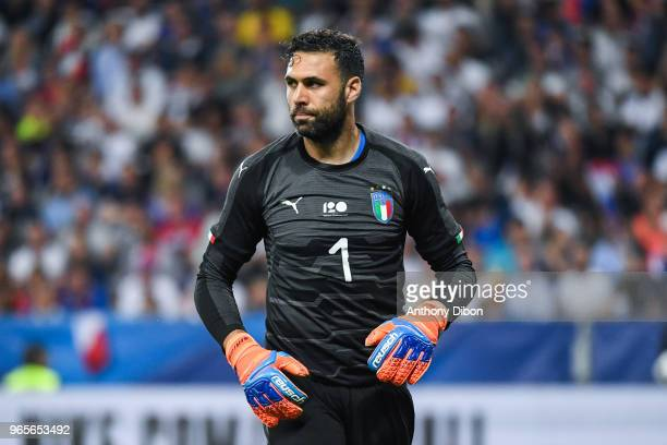 Salvatore Sirigu of Italy during the International Friendly match between France and Italy at Allianz Riviera Stadium on June 1 2018 in Nice France