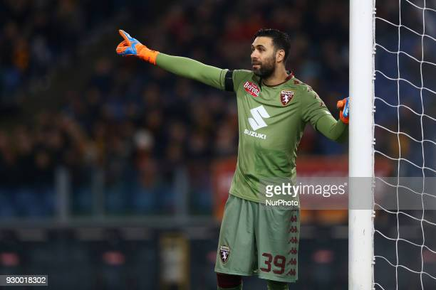 Salvatore Sirigu of Torino during the Italian Serie A football match between AS Roma and FC Torino at the Olympic Stadium in Rome Italy on March 9...