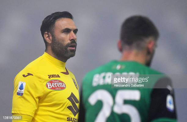 Salvatore Sirigu of Torino FC during the Serie A match between US Sassuolo and Torino FC at Mapei Stadium Città del Tricolore on October 23 2020 in...
