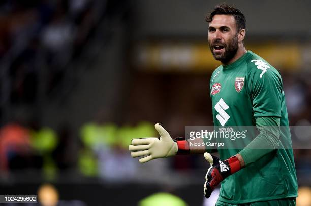 Salvatore Sirigu of Torino FC gestures during the Serie A football match between FC Internazionale and Torino FC The match ended in a 22 tie