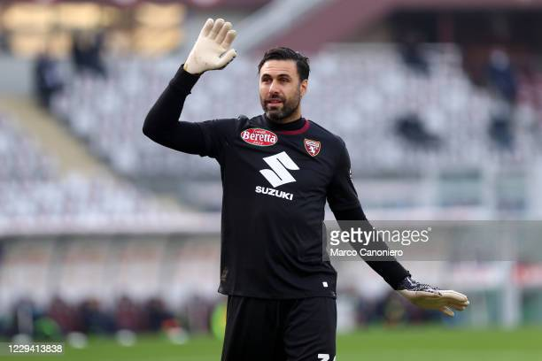 Salvatore Sirigu of Torino FC gestures during the Serie A match between Torino Fc and Ss Lazio. Ss Lazio wins 4-3 over Torino Fc.