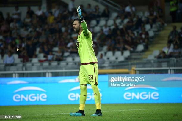 Salvatore Sirigu of Torino FC gestures during the the Serie A match between Torino Fc and Us Sassuolo Calcio. Torino Fc wins 2-1 over Us Sassuolo...