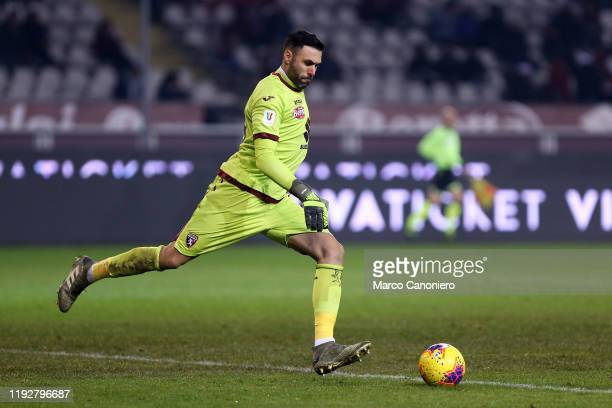 Salvatore Sirigu of Torino FC in action during the Coppa Italia match between Torino Fc and Genoa Cfc. Torino Fc wins 6-4 over Genoa Cfc after...