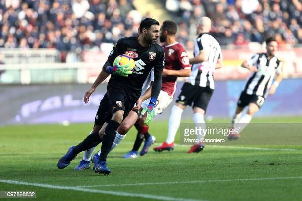 Salvatore Sirigu of Torino FC in action during the Serie A football match between Torino Fc and Udinese Calcio Torino Fc wins 10 over Udinese Calcio