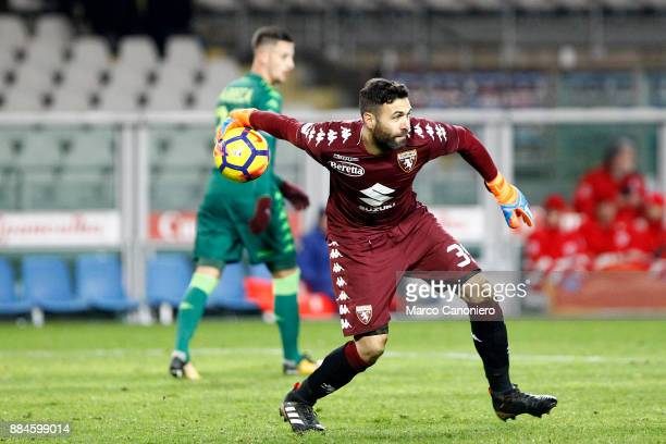 Salvatore Sirigu of Torino FC in action during the Serie A football match between Torino Fc and Atalanta Bergamasca Calcio Players of Torino Fc wear...