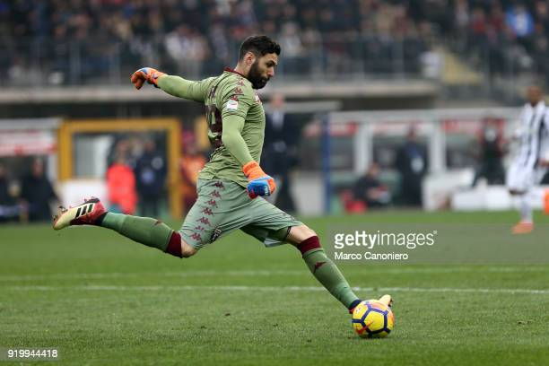 Salvatore Sirigu of Torino FC in action during the Serie A football match between Torino Fc and Juventus Fc Juventus Fc wins 10 over Torino Fc