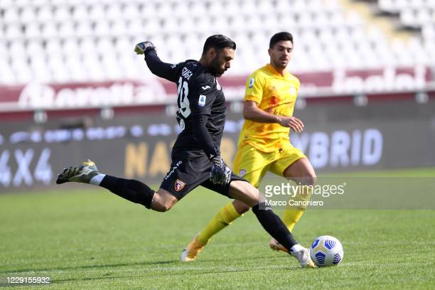 Salvatore Sirigu of Torino FC in action during the Serie A match between Torino Fc and Cagliari Calcio Cagliari Calcio wins 32 over Torino Fc