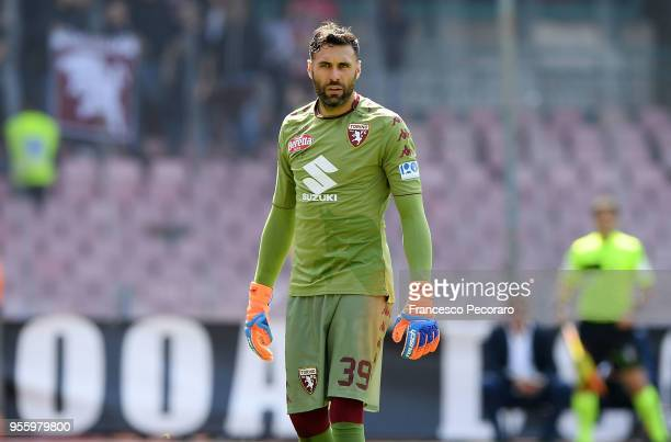 Salvatore Sirigu of Torino FC in action during the serie A match between SSC Napoli and Torino FC at Stadio San Paolo on May 6, 2018 in Naples, Italy.