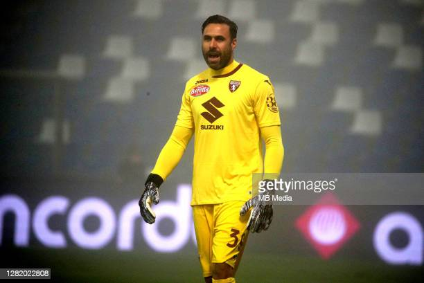 Salvatore Sirigu of Torino FC in action during the Serie A match between US Sassuolo and Torino FC at Mapei Stadium Città del Tricolore on October 23...