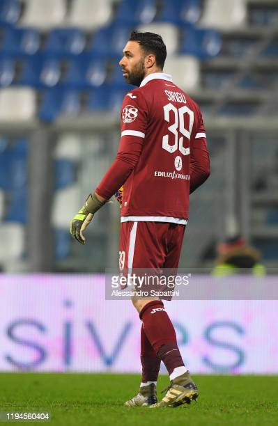 Salvatore Sirigu of Torino FC looks on during the Serie A match between US Sassuolo and Torino FC at Mapei Stadium Città  del Tricolore on January 18...