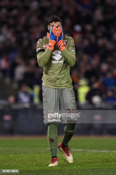 Salvatore Sirigu of Torino looks dejected during the Serie A match between Roma and Torino at Olympic Stadium Roma Italy on 9 March 2018