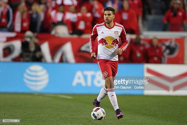 Salvatore Zizzo of New York Red Bulls in action during the New York Red Bulls Vs Montreal Impact MLS playoff match at Red Bull Arena Harrison New...