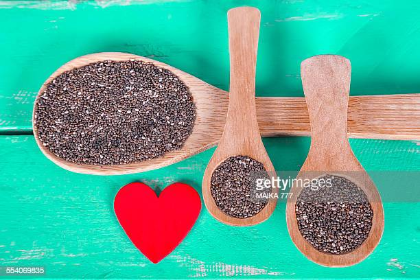Salvia hispanica seeds, commonly known as Chia