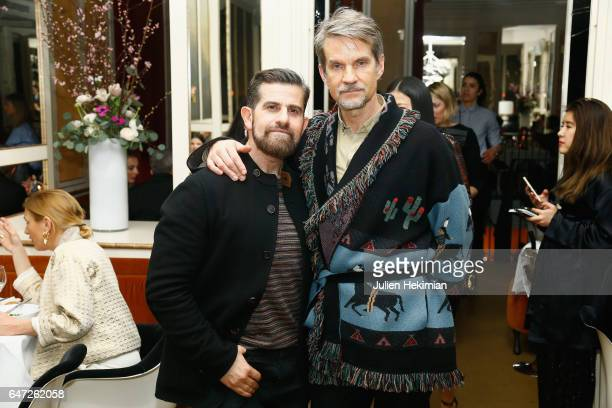 Salvo Nicosia and Alexander Werz attend the Vogue Thailand dinner celebrating Angelys Balek as part of Paris Fashion Week Womenswear Fall/Winter...