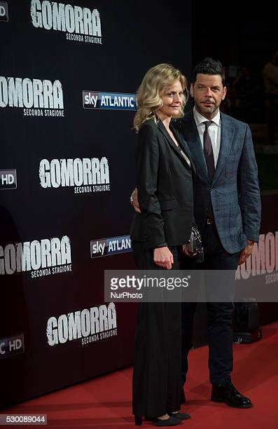 Salvo Sottile attends the 'Gomorra 2 - La serie' on red carpets at The Teatro dell'Opera in Rome, Italy on May 10, 2016.