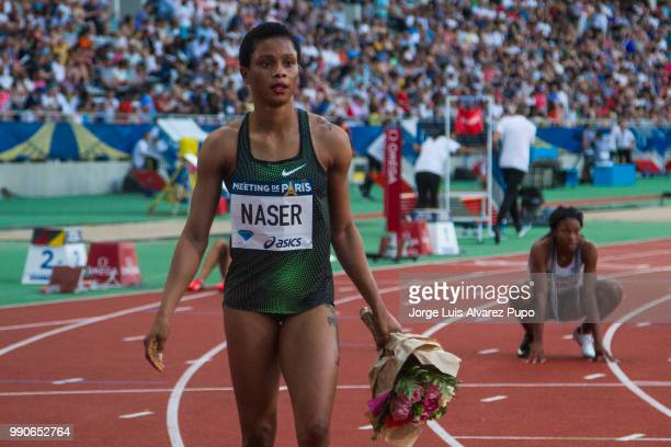 Salwa Eid Naser of Bahrain competes in the 400m Women of the IAAF Diamond League Meeting de Paris 2018 at the Stade Charlety on June 30 2018 in Paris...