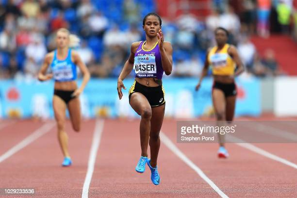 Salwa Eid Naser of Team Asia-Pacific competes in the Womens 400 Metres during day one of the IAAF Continental Cup at Mestsky Stadium on September 8,...