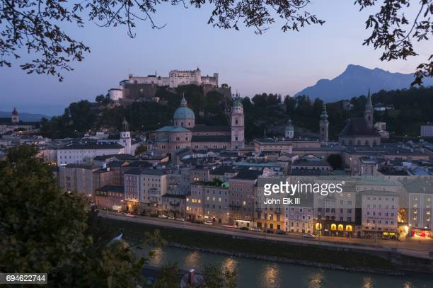 Salzburg at twilight