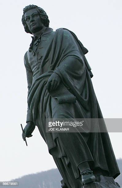 Picture of the statue of Wolfgang Amadeus Mozart taken in Salzburg 26 January 2006 Friday marks 250th anniversary of Wolfgang Amadeus Mozart's birth...