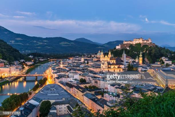salzburg cityscape, austria, europe - salzburger land stock pictures, royalty-free photos & images
