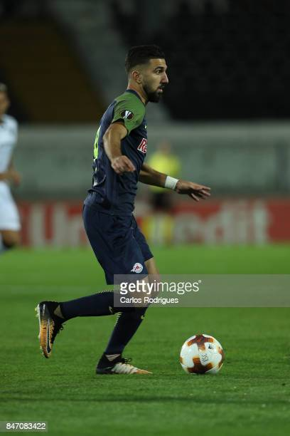 Salzburg forward Munas Dabbur from Greece during the match between Vitoria Guimaraes and RB Salzburg for UEFA Europa League at Estadio da Dom Afonso...