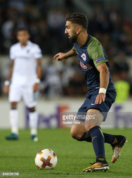 Salzburg forward Munas Dabbur from Greece in action during the UEFA Europa League match between Vitoria de Guimaraes and RB Salzburg at Estadio D...