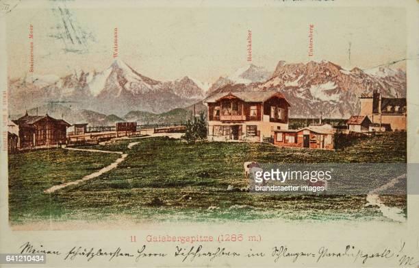 Salzburg Gaisbergspitze 1899 Photochrom Photograph and publishing by G Baldi / Salzburg